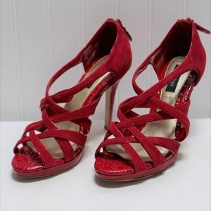 White House Black Market Red Heels Size 7.5